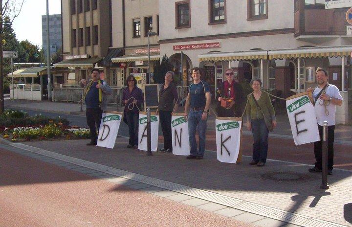Wahlkampf 2011 Danke