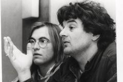 1983 Albrecht Kündiger mit Joschka Fischer in Kelkheim